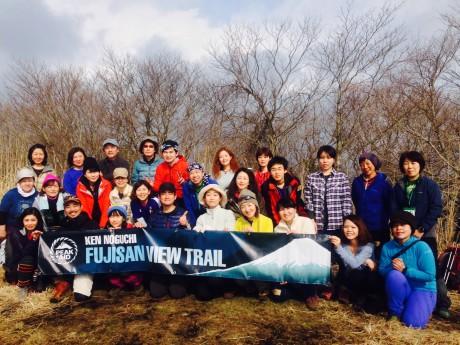 富士岬平での記念撮影